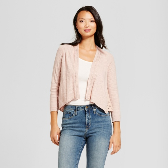 speical offer new selection best place for New KNOX ROSE Blush Eyelet Layering Cardigan [D4]